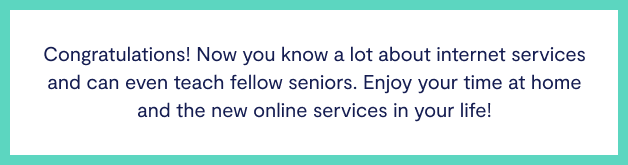 Interner services for seniors
