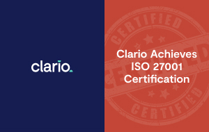 Clario Achieves ISO 27001 Certification