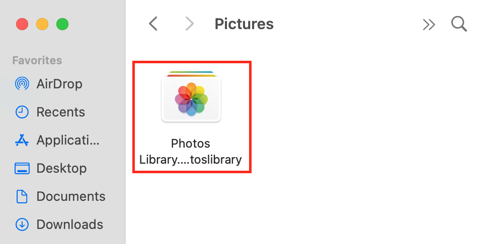 Mac Photos Library folder