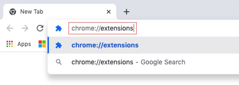 Locate extensions in Chrome