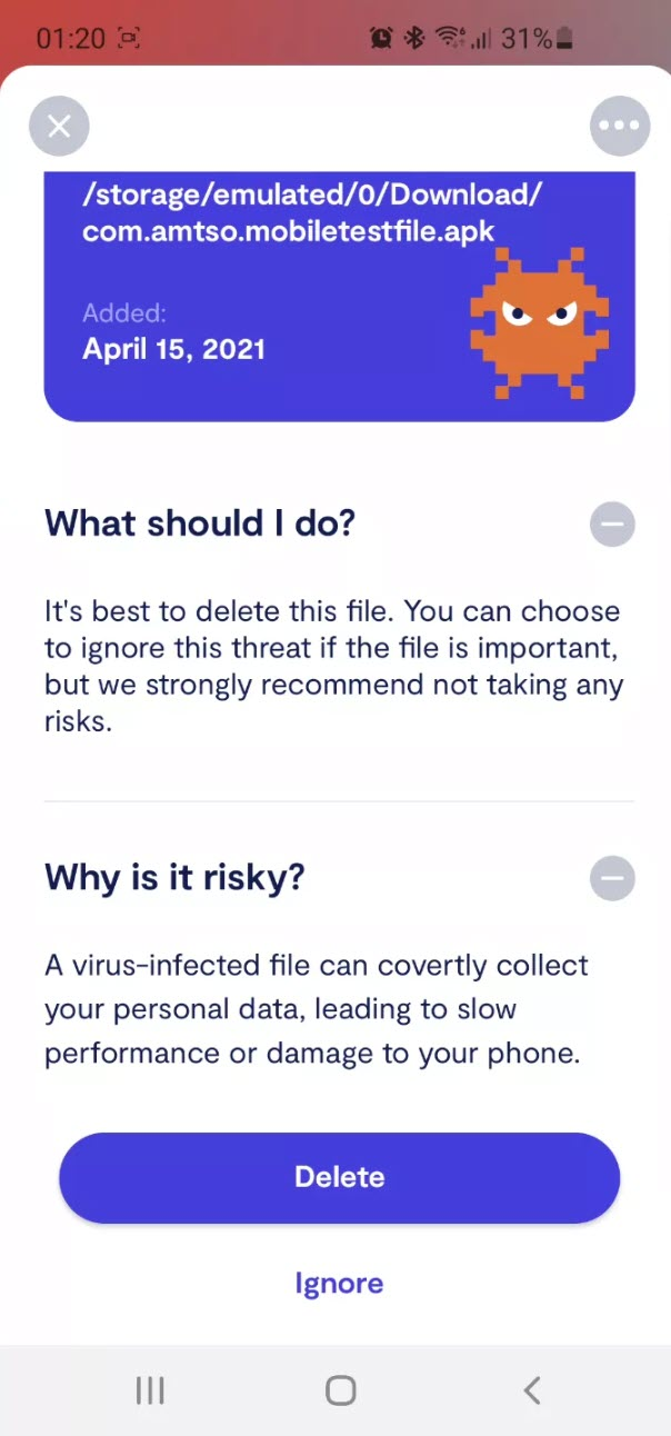 Delete malicious apps
