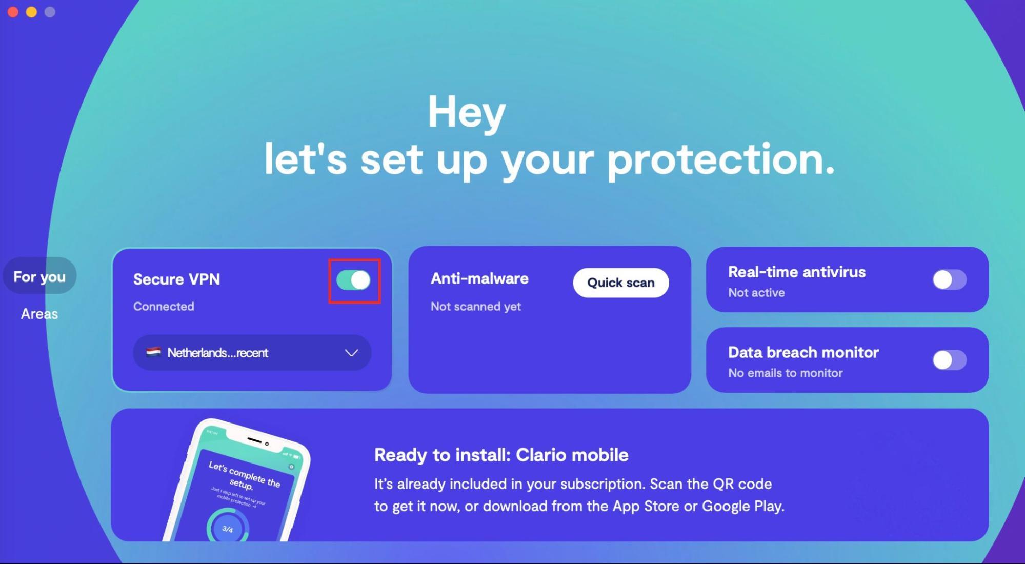 Setting up the Clario VPN