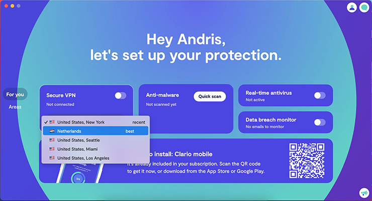 Configure your privacy and security settings