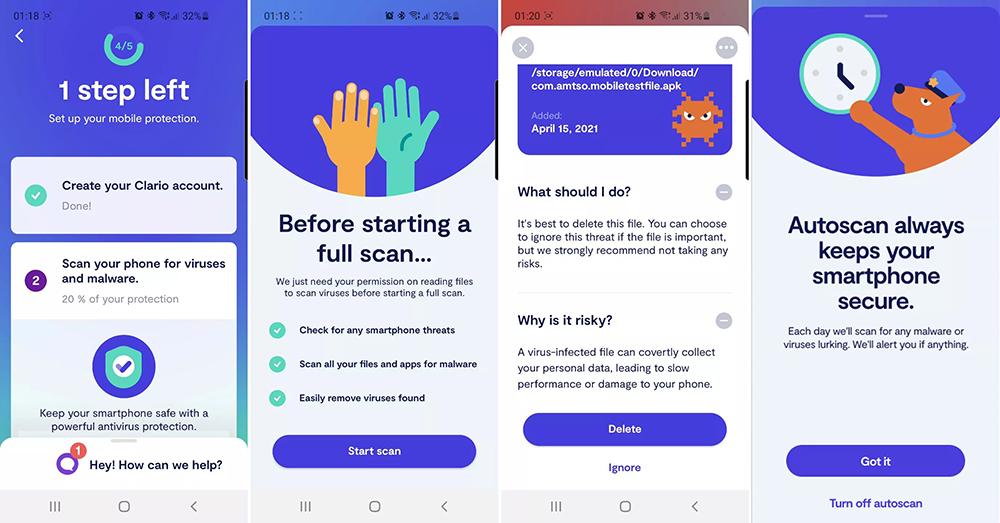 Installing Clario's Android antivirus