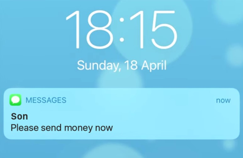SMS number spoofing looks like a message from someone you trust