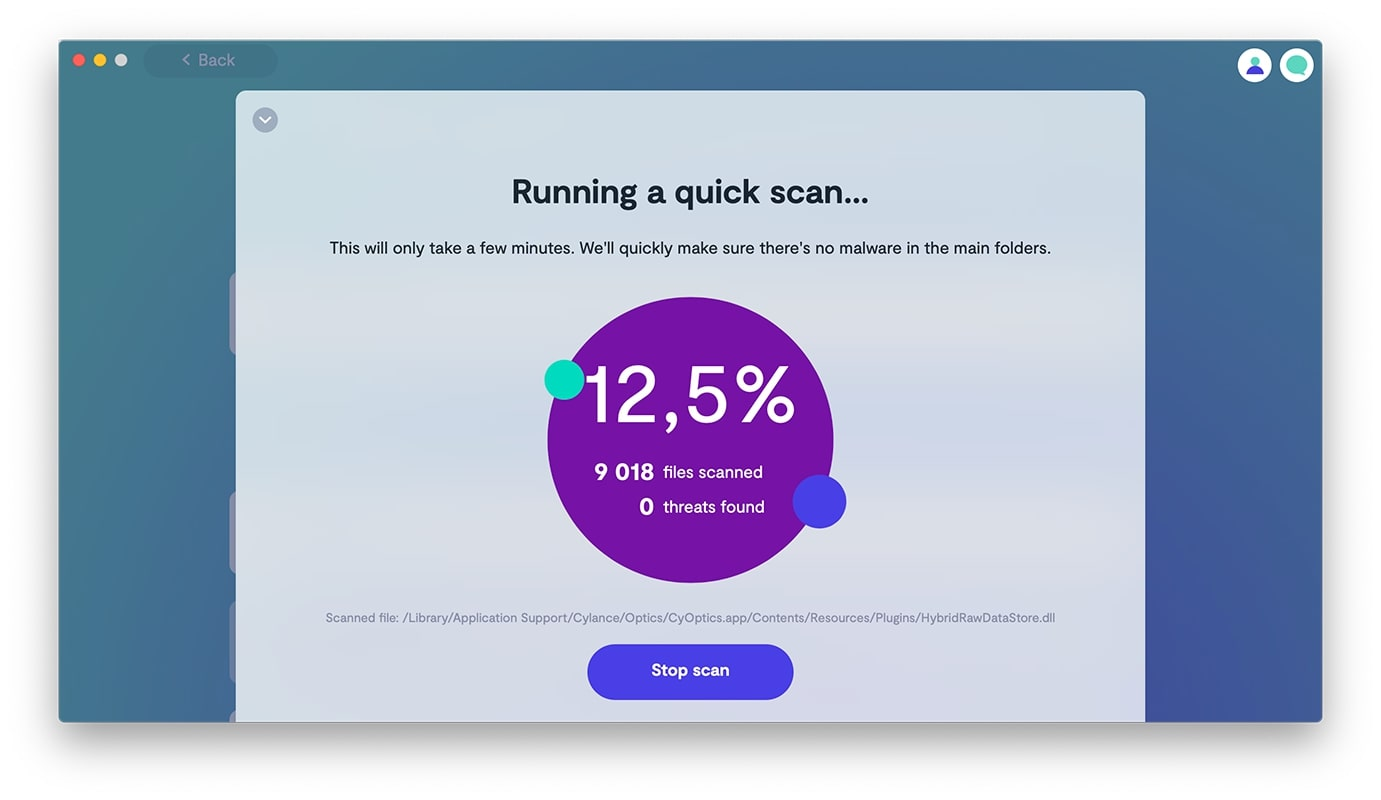 Run a quick malware scan