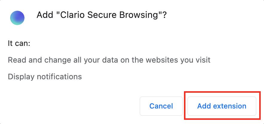 Adding Clario browser extension
