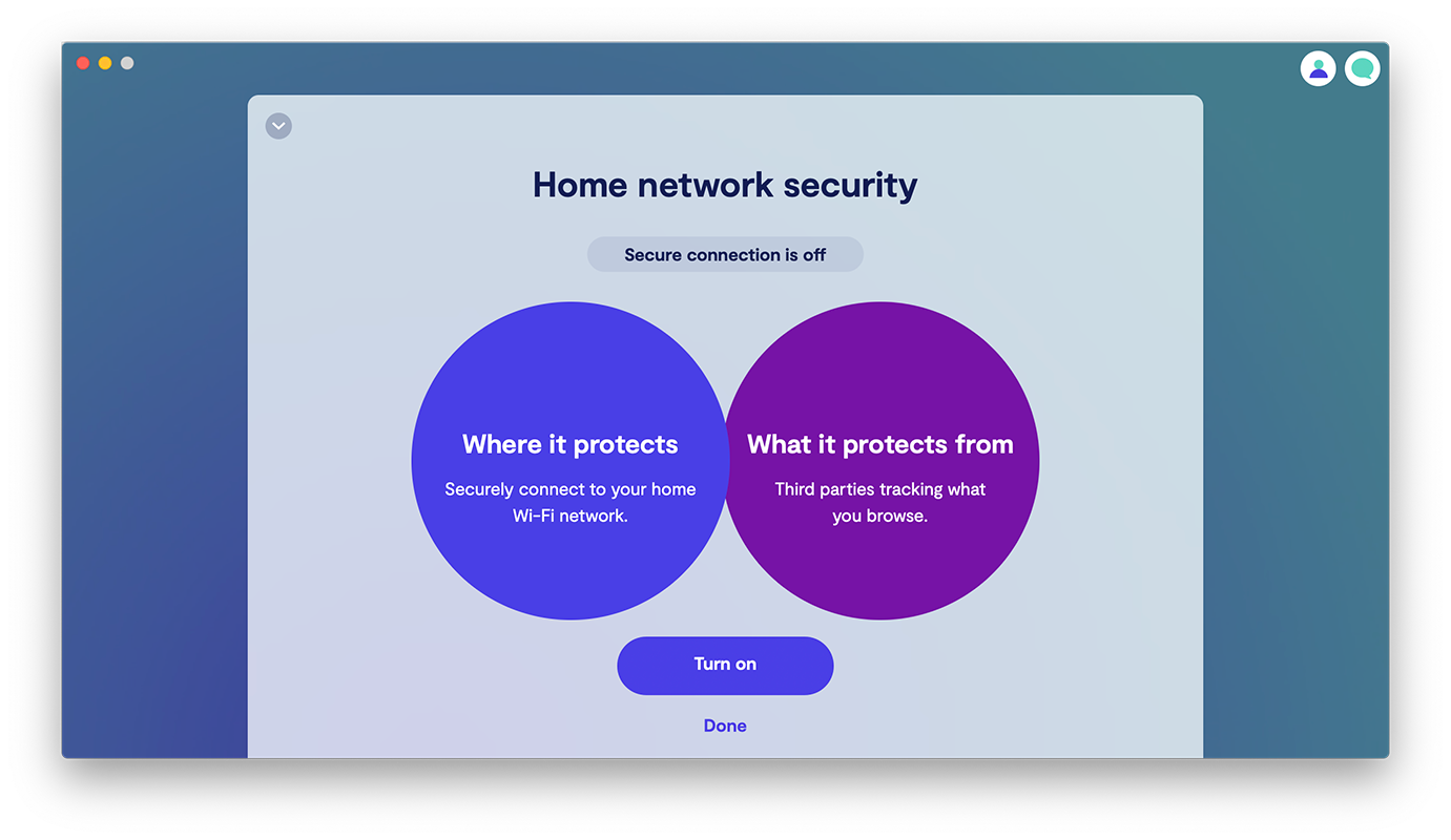 Turn on Home network security