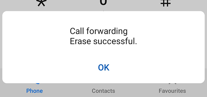 Dial *#004# to erase all conditional forwarding settings