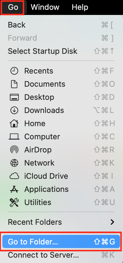 Go to Folder on Mac