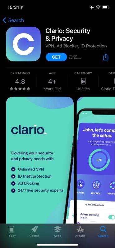 Clario in the App Store