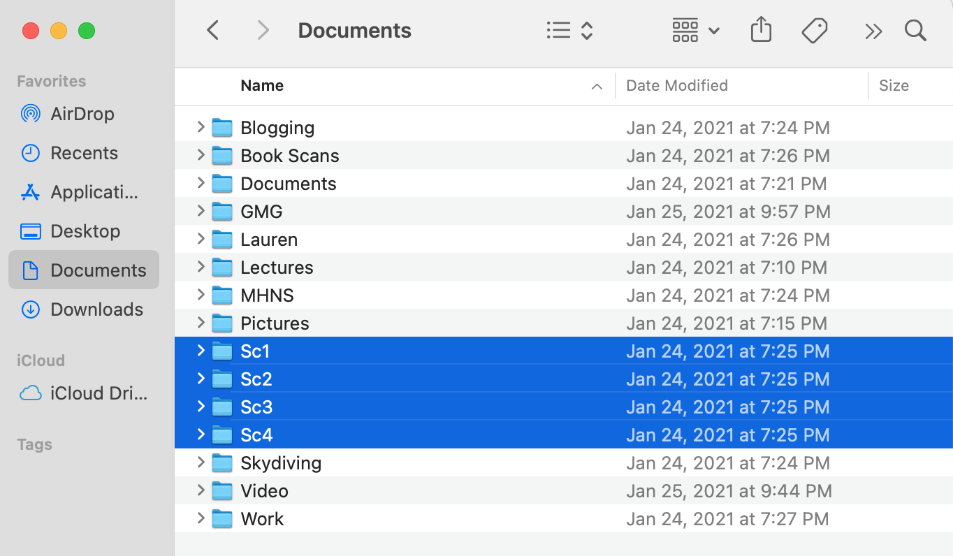 suspicious folders on Mac