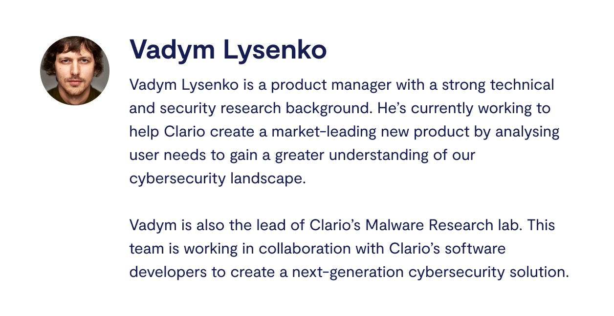 Vadym Lysenko Clario