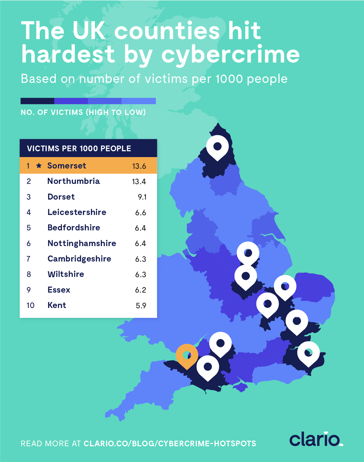 the UK countries hit hardest by cybercrime