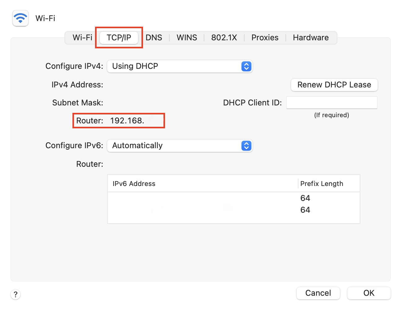 Find your router's IP address