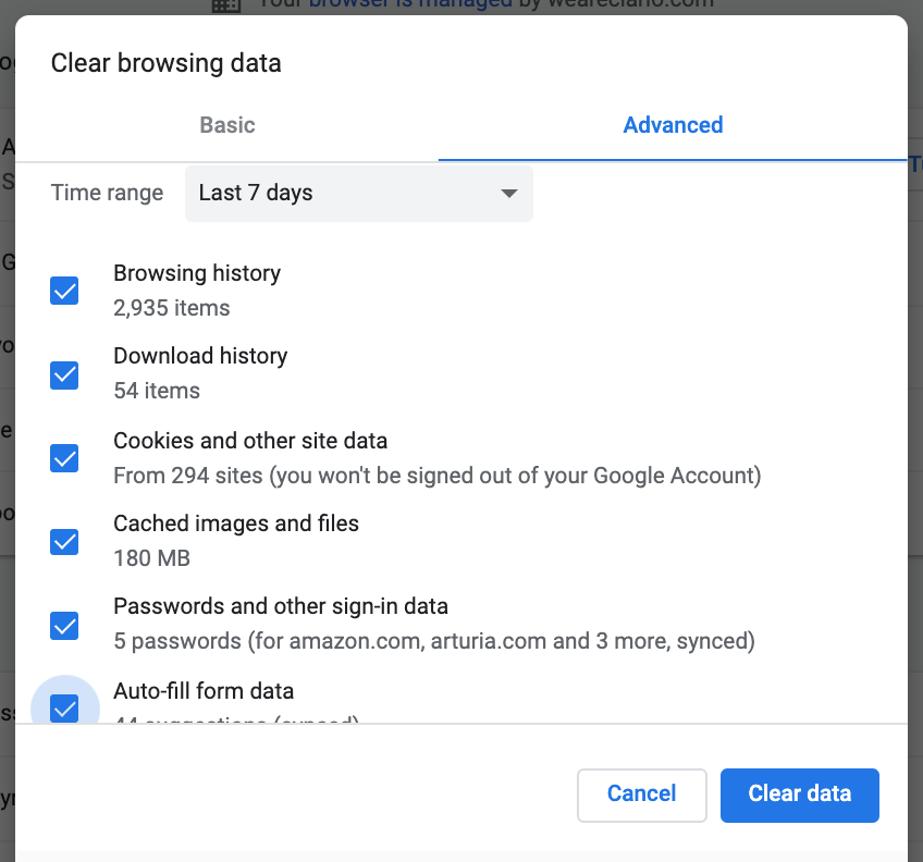 clear browsing history google chrome