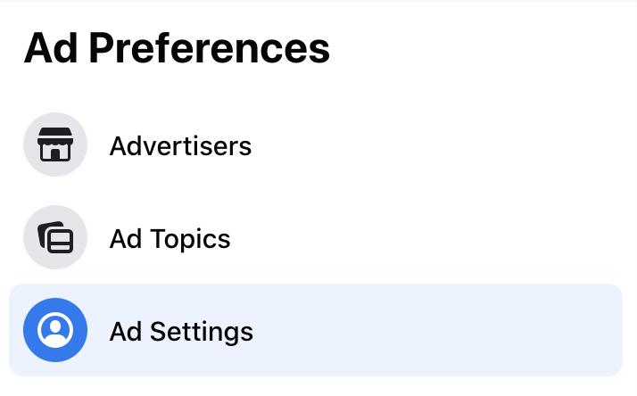 facebook ad prefences