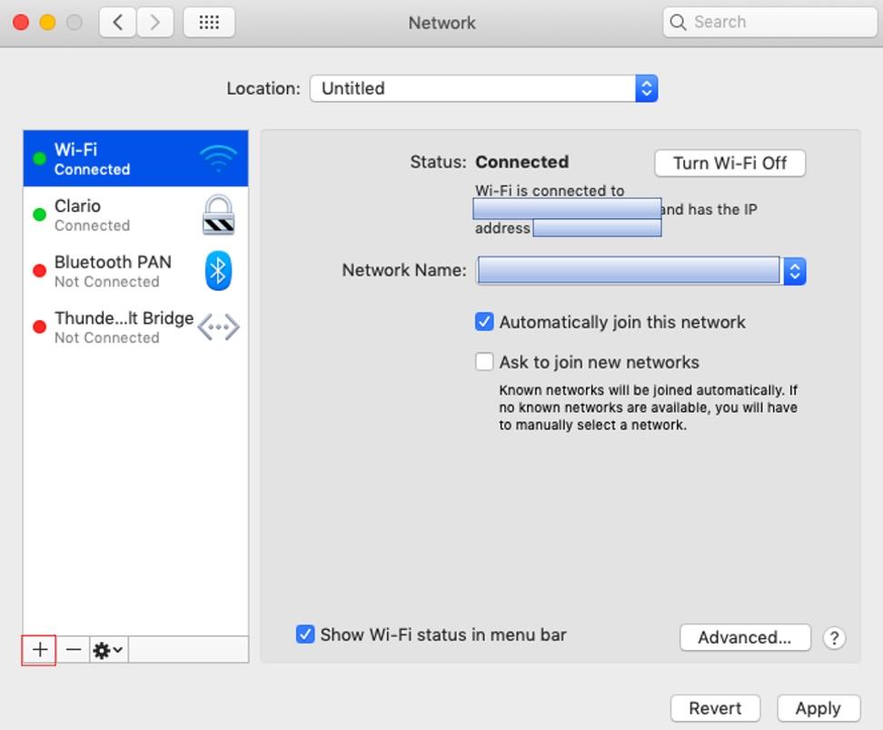 Access VPN settings