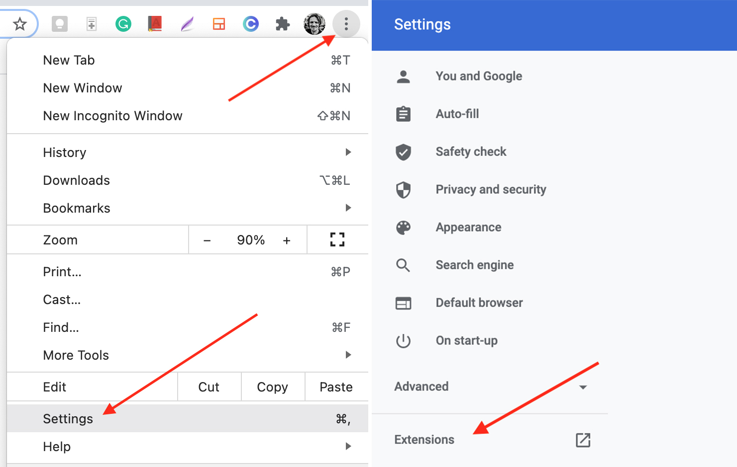 Manage your Chrome extensions