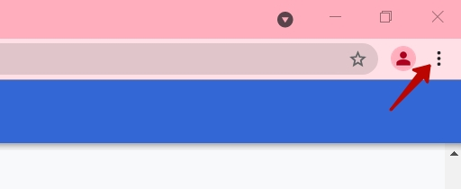 Access your Google Chrome account settings.